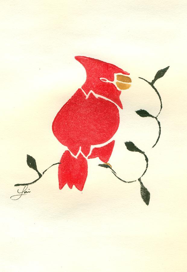 Cardinal Painting - Cardinal by Lori Johnson