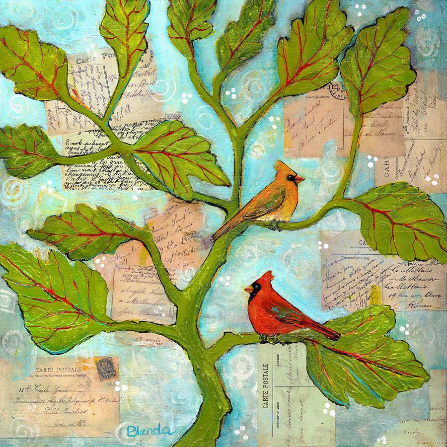 Cardinal Love Notes Painting