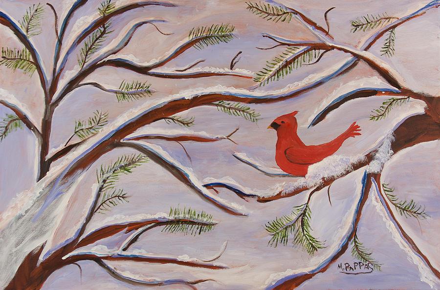 Cardinal Painting - Cardinal by Margaret Pappas
