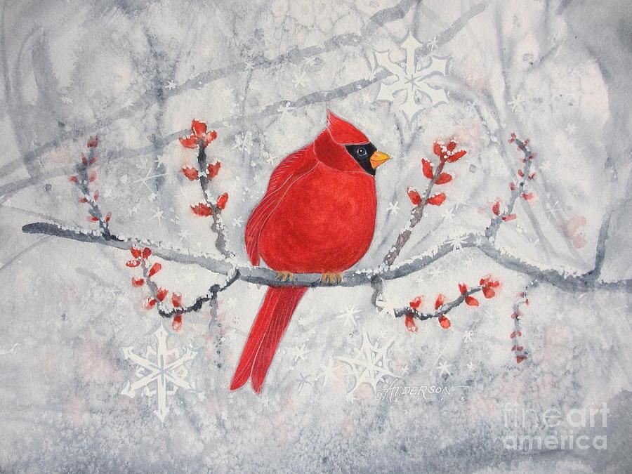Cardinal Painting - Cardinal by Sherri Anderson
