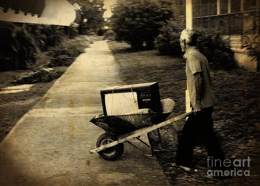 Old Televisions Photograph - Careful With That Its Expensive by John Malone Halifax photographer