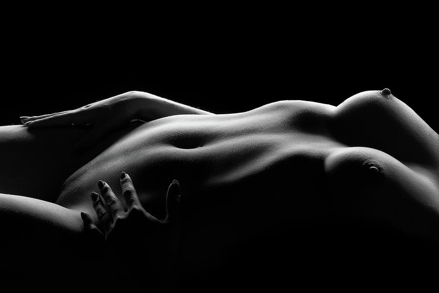 Bodyscape Photograph - Caressed By Light (i) by Burkhard Achtergarde