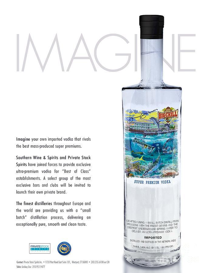 Vodka Glass Art - Carey Chen Big Chill Vodka By Jimmy Johnson by Carey Chen