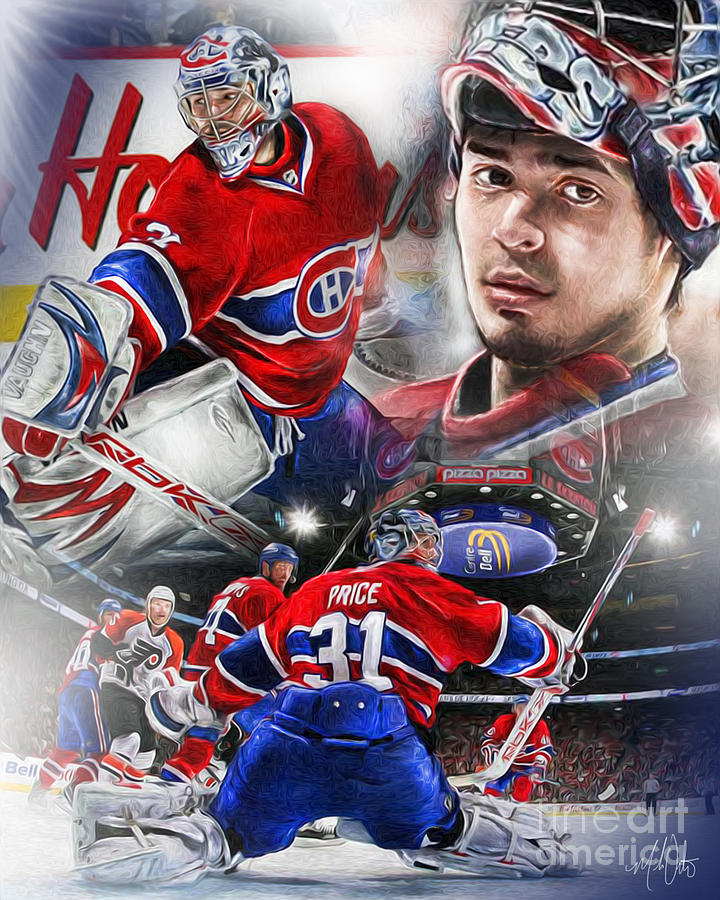 Carey Price Painting - Carey Price by Mike Oulton