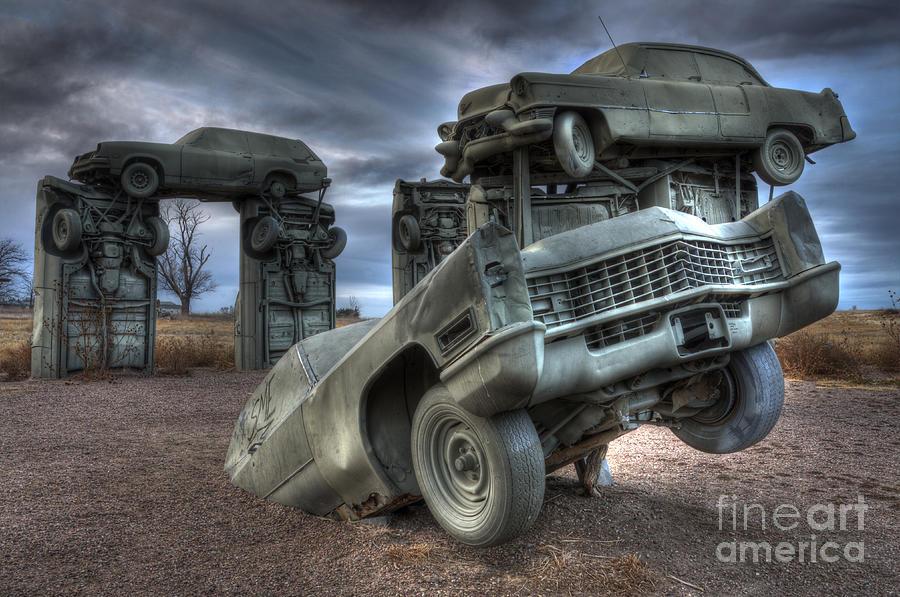 Carhenge Photograph - Carhenge Automobile Art 5 by Bob Christopher