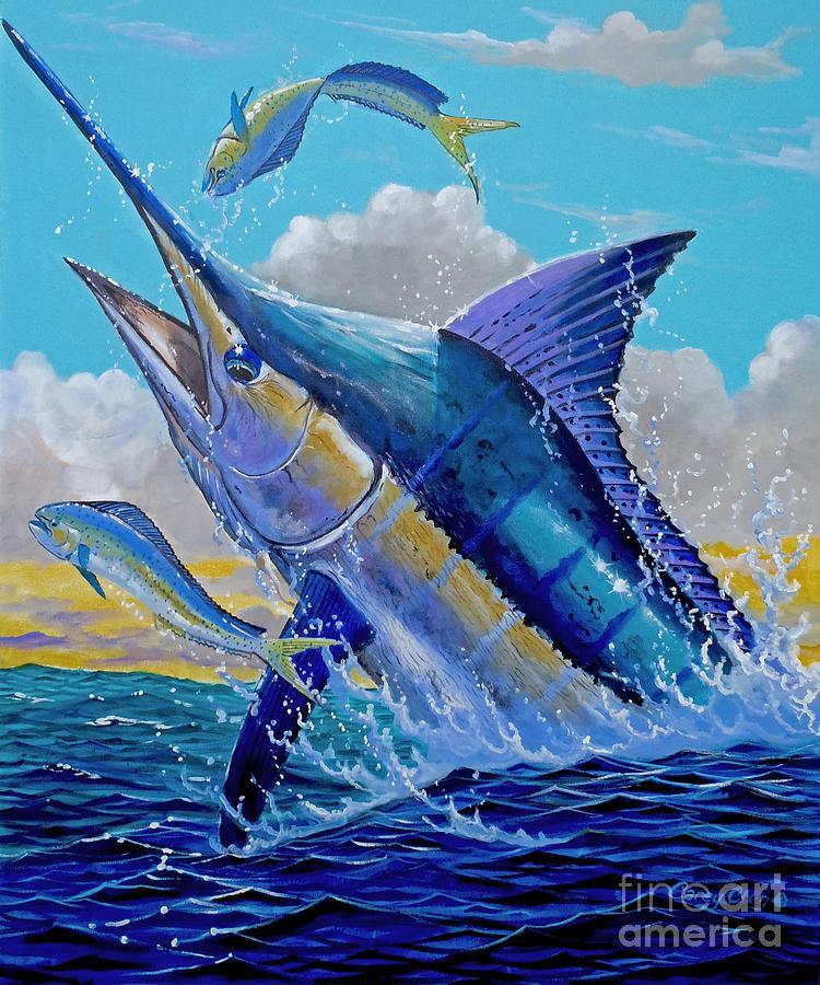Blue Painting - Carib Blue by Carey Chen