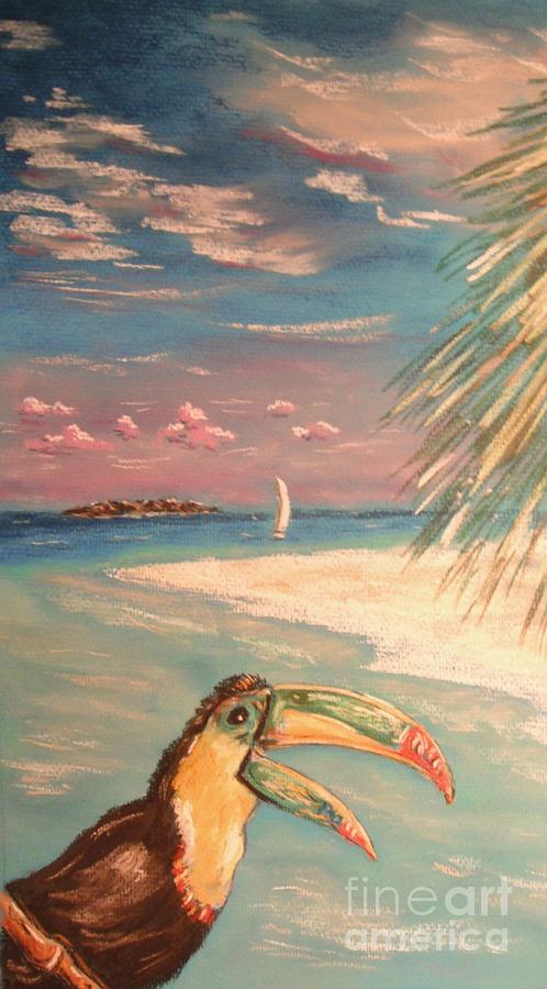 Tropical Painting - Caribbean Afternoon by The Beach  Dreamer