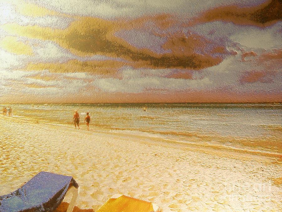 Painting - Caribbean Beach by Odon Czintos