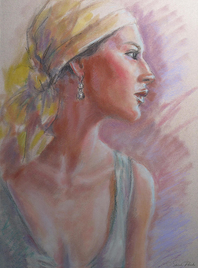 Figurative Pastel - Caribbean Beauty by Sarah Parks