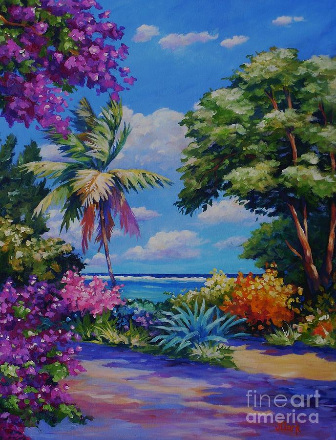Painting Painting - Caribbean Colours by John Clark