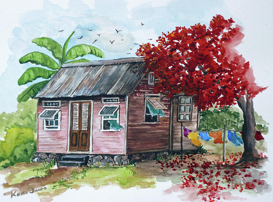 Caribbean House Painting By Karin Dawn Kelshall Best