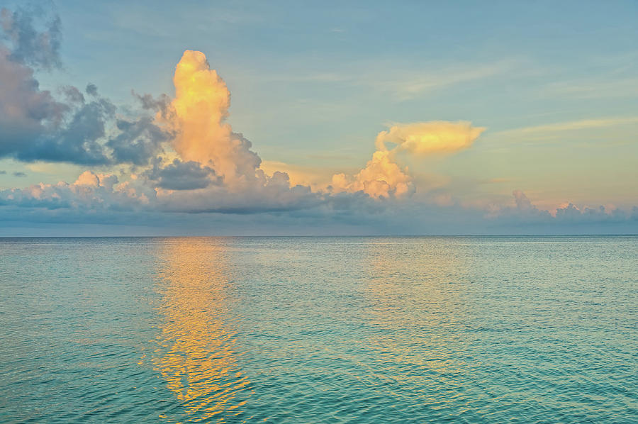 Caribbean Sea At Sunrise Photograph by Adventure photo