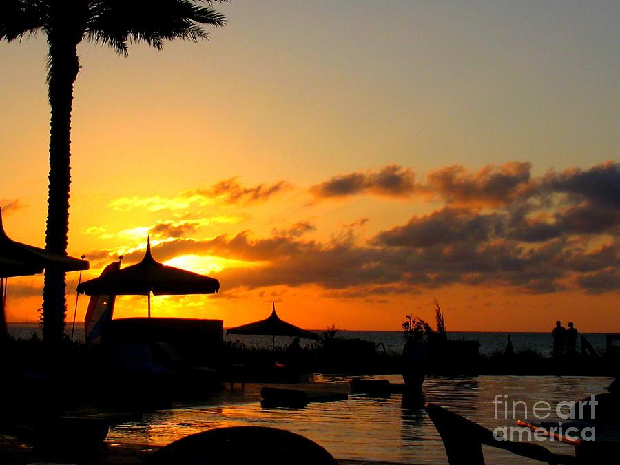 Golden Sunset Photograph - Turks Sunset by Patti Whitten