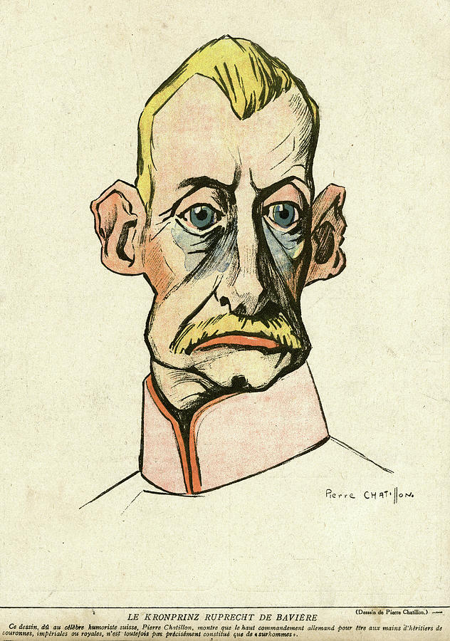 Ww1 Drawing - Caricature Of Prince Rupert, Crown by Mary Evans Picture Library