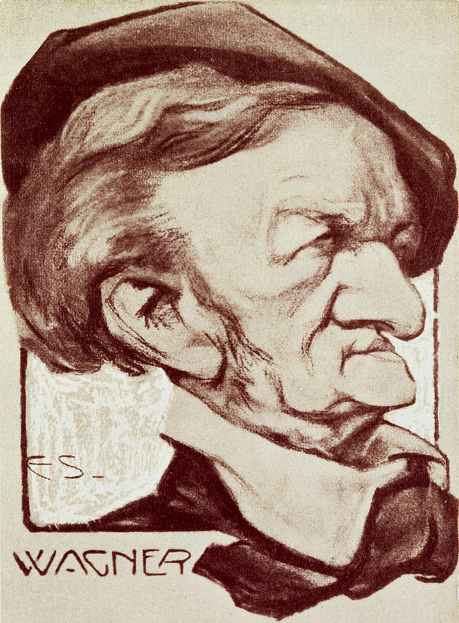 Crt Drawing - Caricature Of Richard Wagner by Anonymous