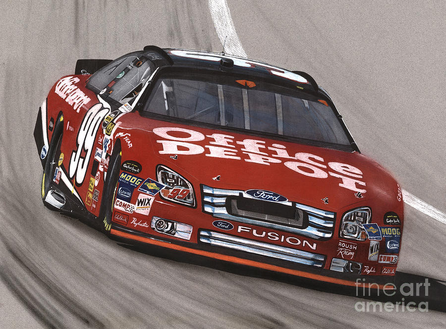 Carl Edwards Office Depot Ford Drawing