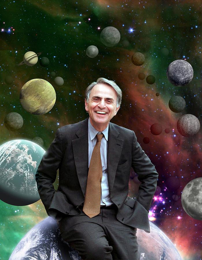 20th Century Photograph - Carl Sagan by Nasa/jpl-caltech