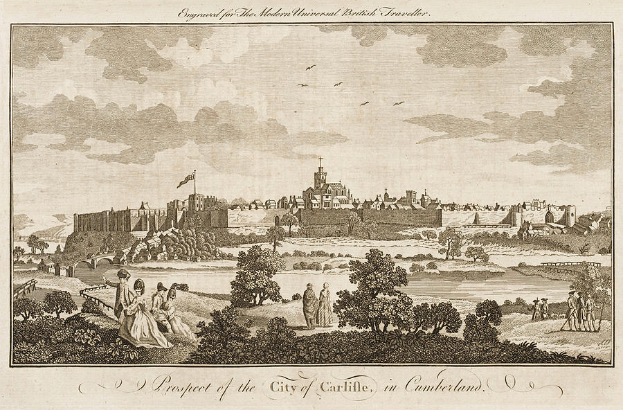 England Drawing - Carlisle, Cumbria, England     Date 1779 by Mary Evans Picture Library