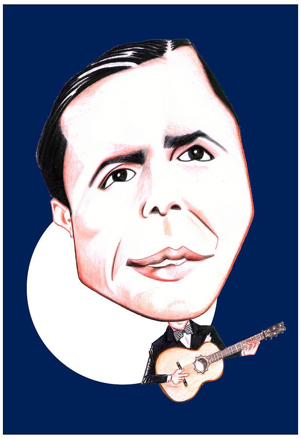 Carlos Gardel Drawing - Carlos Gardel Illustration by Diego Abelenda