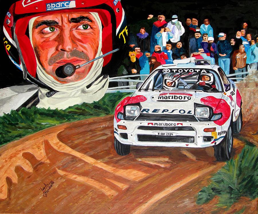 Carlos Sainz Painting - Carlos Sainz by Jose Mendez