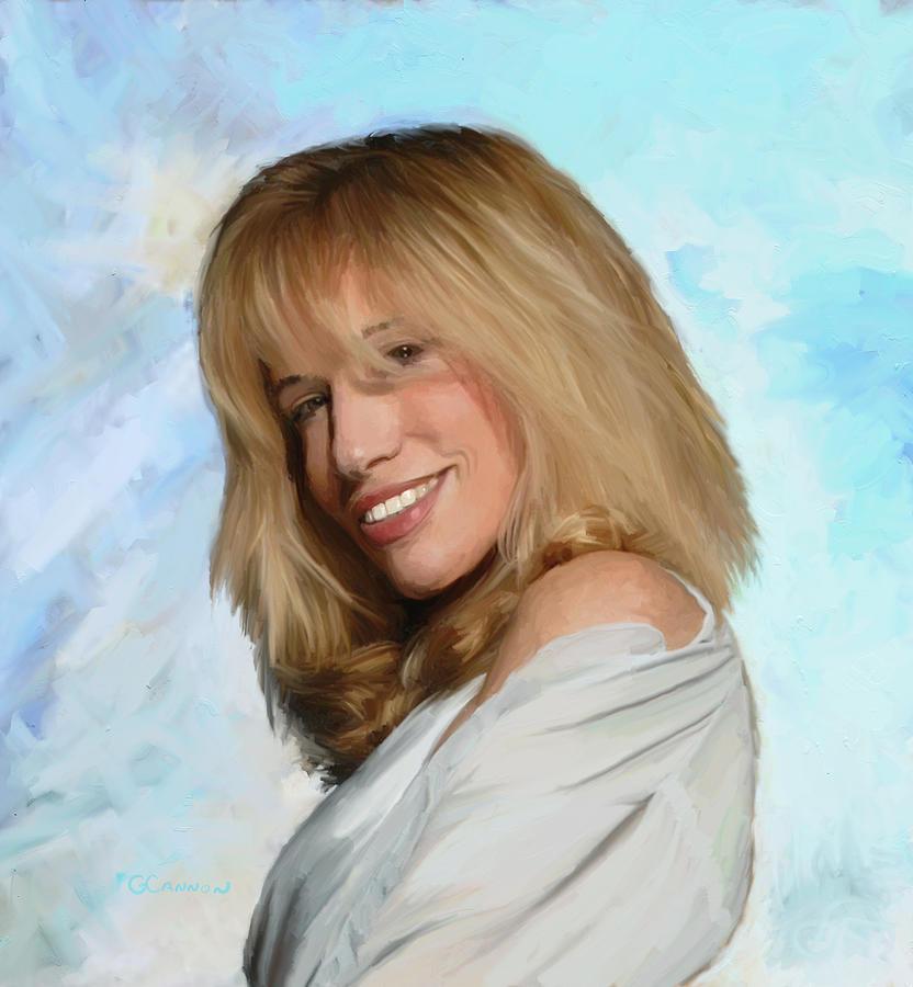 Carly Simon Painting - Carly Simon by GCannon