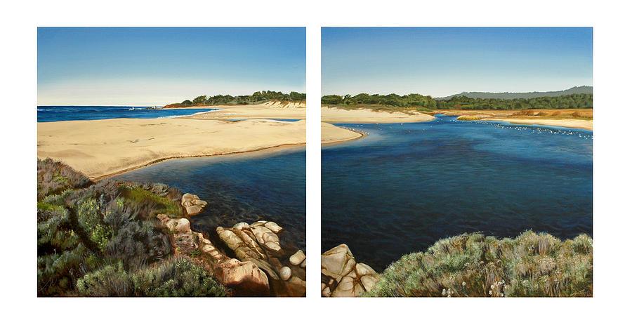 Carmel Painting - Carmel Lagoon Beach by Logan Parsons