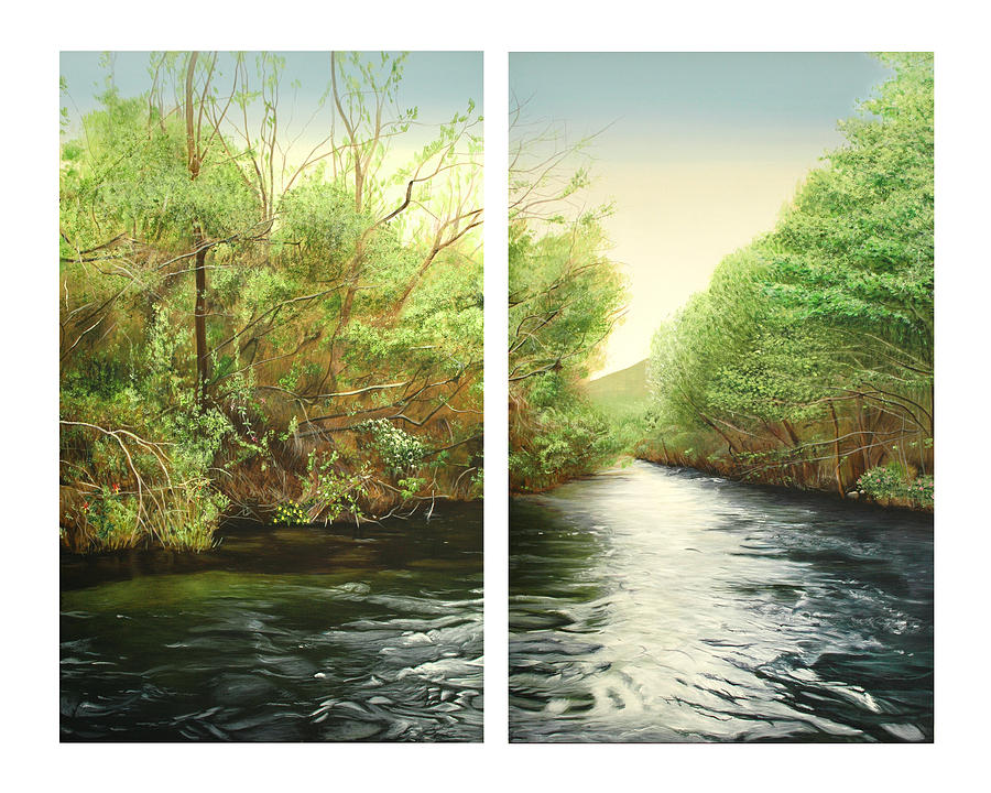 Carmel Painting - Carmel River Mid-watershed by Logan Parsons