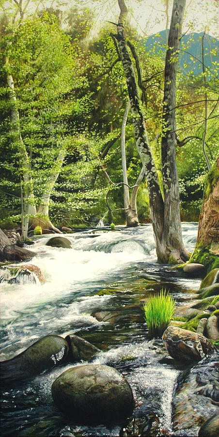 Wilderness Painting - Carmel River Upper Watershed by Logan Parsons