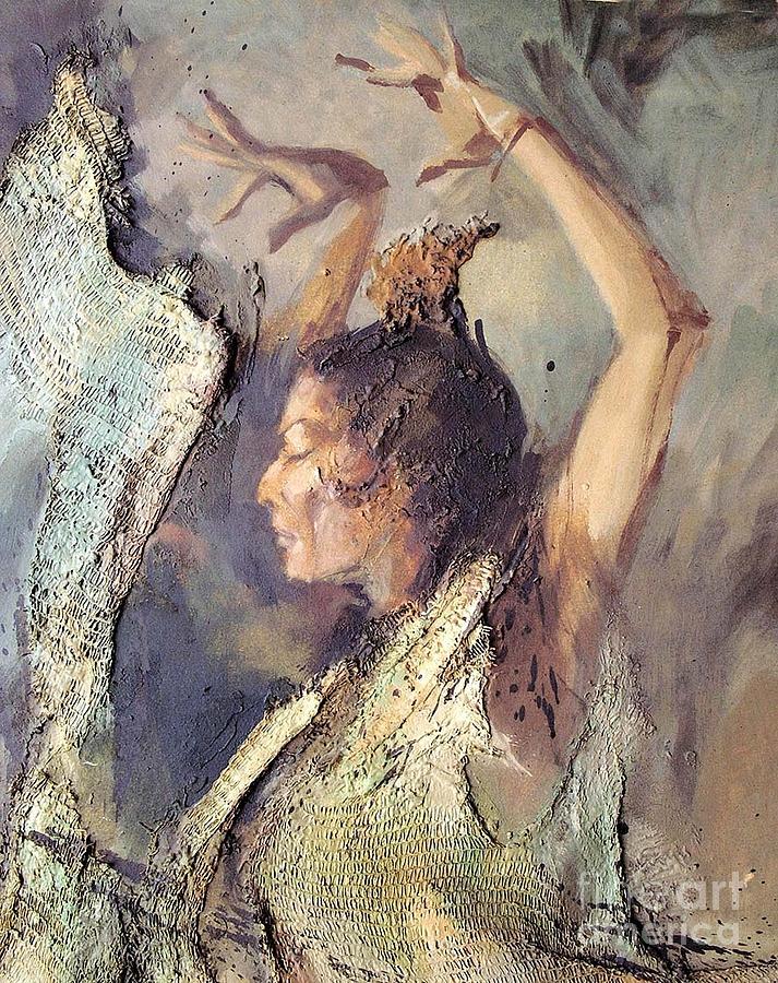 Flamenco Painting - Carmen Amaya Vi by Zaafra David