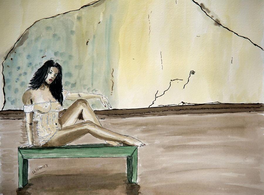 Woman Greeting Cards Painting - Carmen. by Shlomo Zangilevitch
