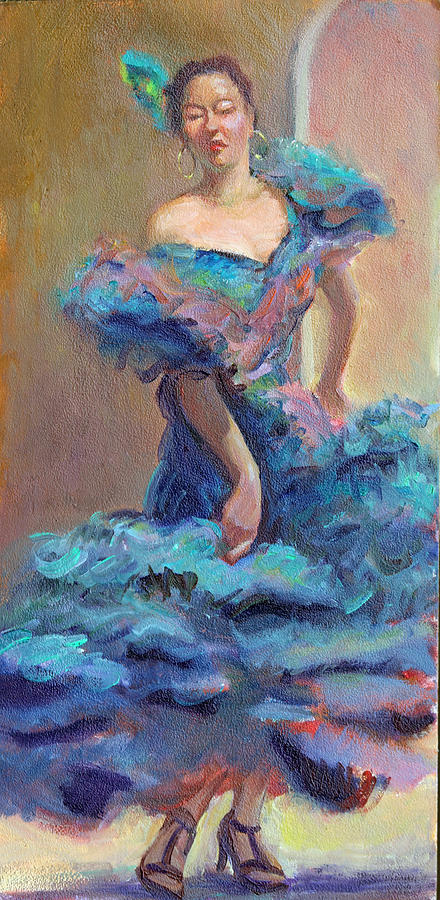 Provinces Of Spain Painting - Carmencita Dances by Gwen Carroll