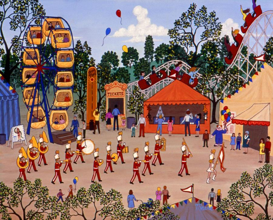Carnival Painting - Carnival and Parade by Linda Mears