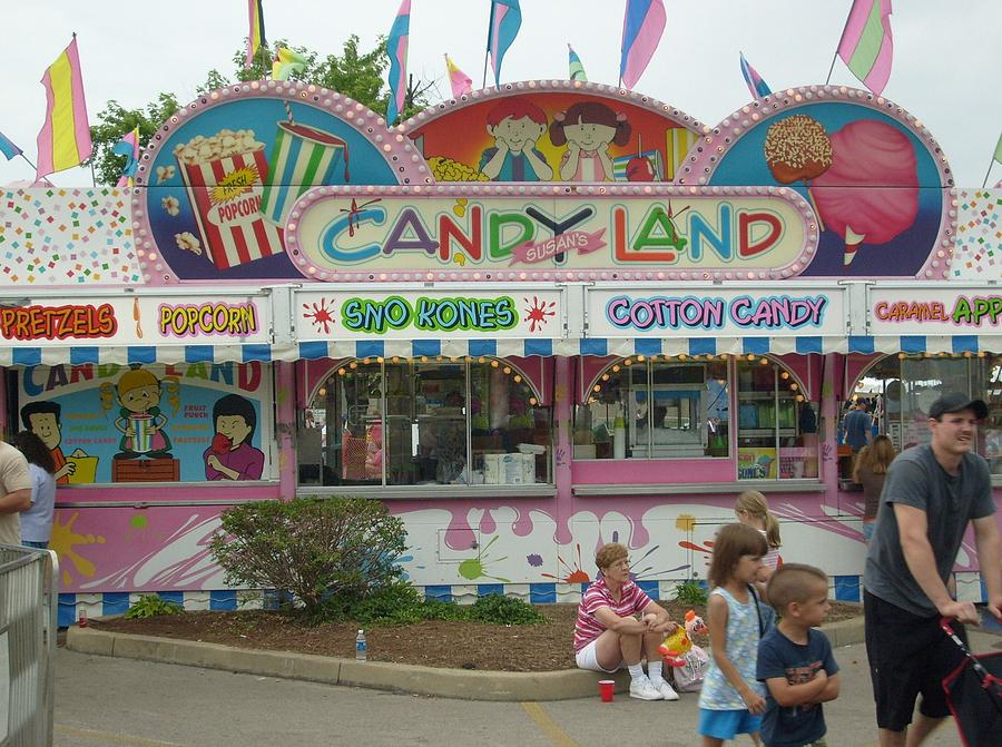 Americana Photograph - Carnival Candy Land by Ann Willmore