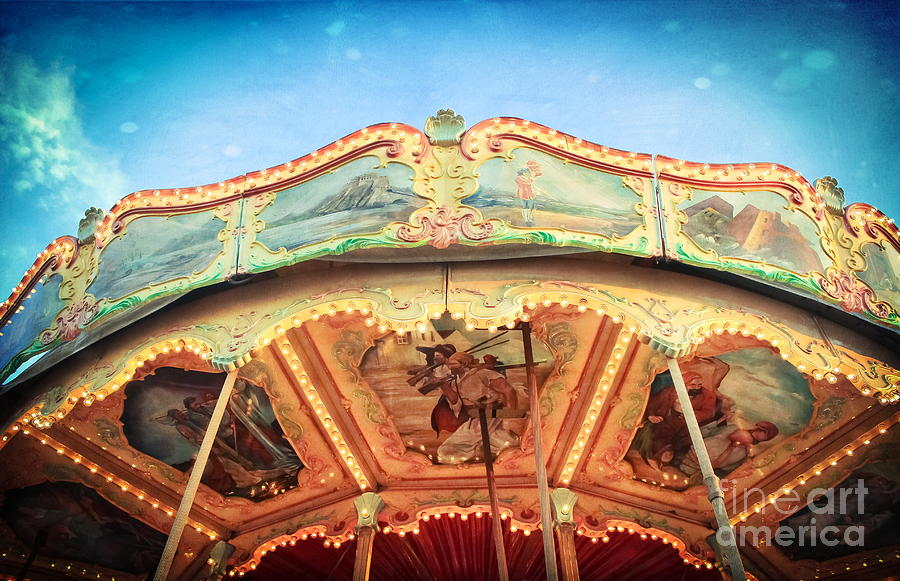 carnival carousel top photograph by colleen kammerer