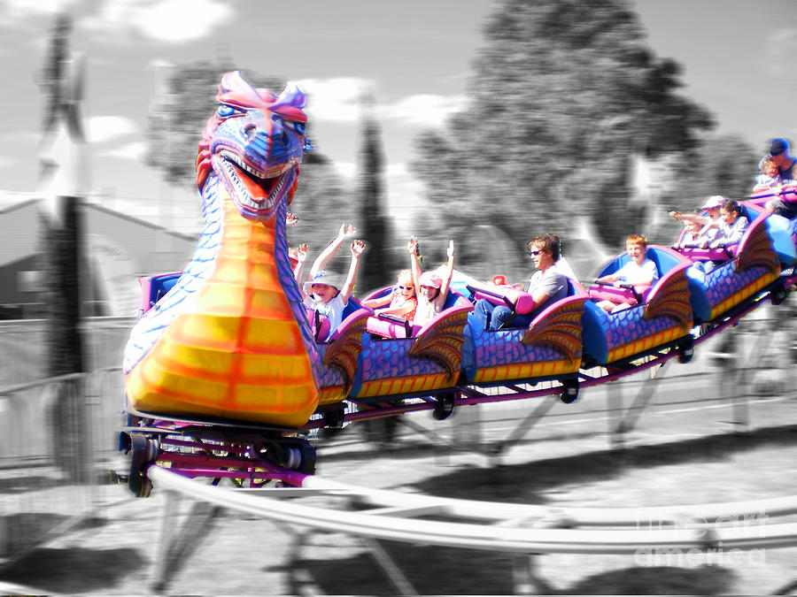 Roller Coaster Photograph - Carnival by Cassandra Buckley