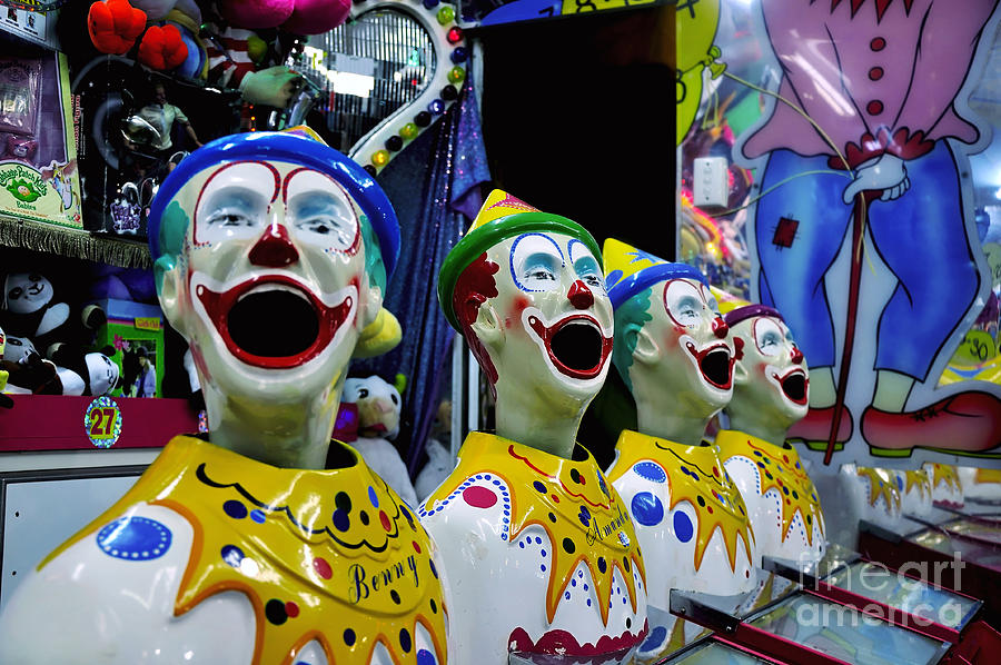 Laughing Clown Photograph - Carnival Clowns by Kaye Menner