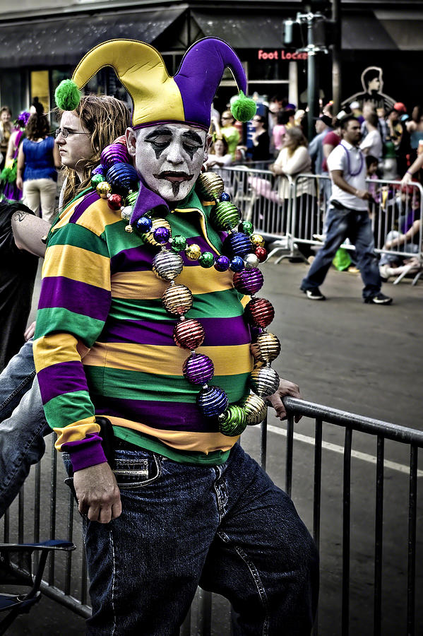 Mardi Gra Photograph - Carnival Jester by Ray Devlin