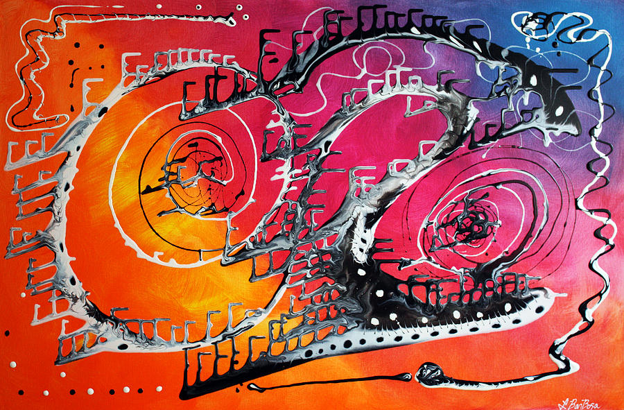 Abstract Painting - Carnival by Laura Barbosa