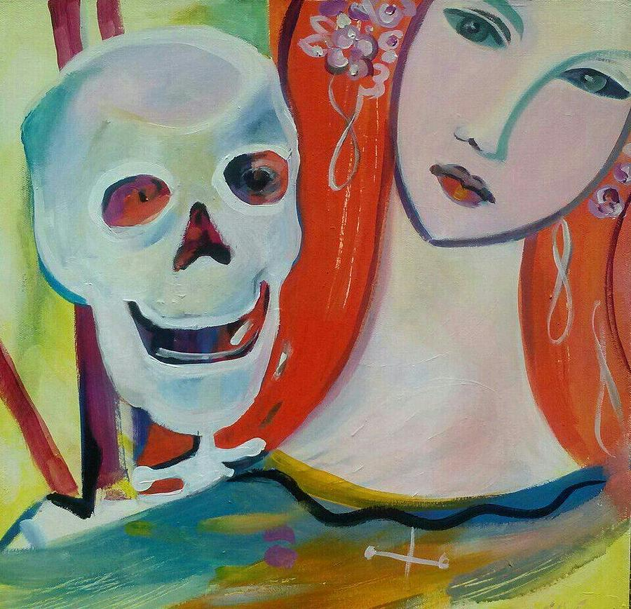 Death Painting - Carnival Of Bones by Marlene LAbbe