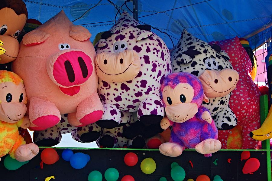 Super Soft Stuffed Animals For Babies, Carnival Prizes Photograph By Sharon L Stacy