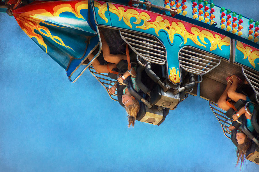 Roller Coaster Photograph - Carnival - Ride - The Thrill Of The Carnival  by Mike Savad