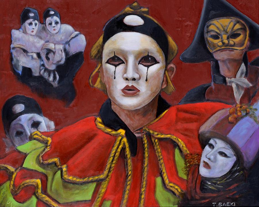 Carnival Painting by Tomoji Saeki