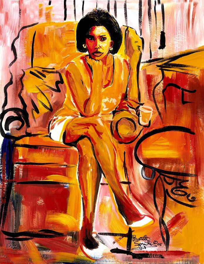 Romare Bearden Painting - Carol Elaine by Everett Spruill