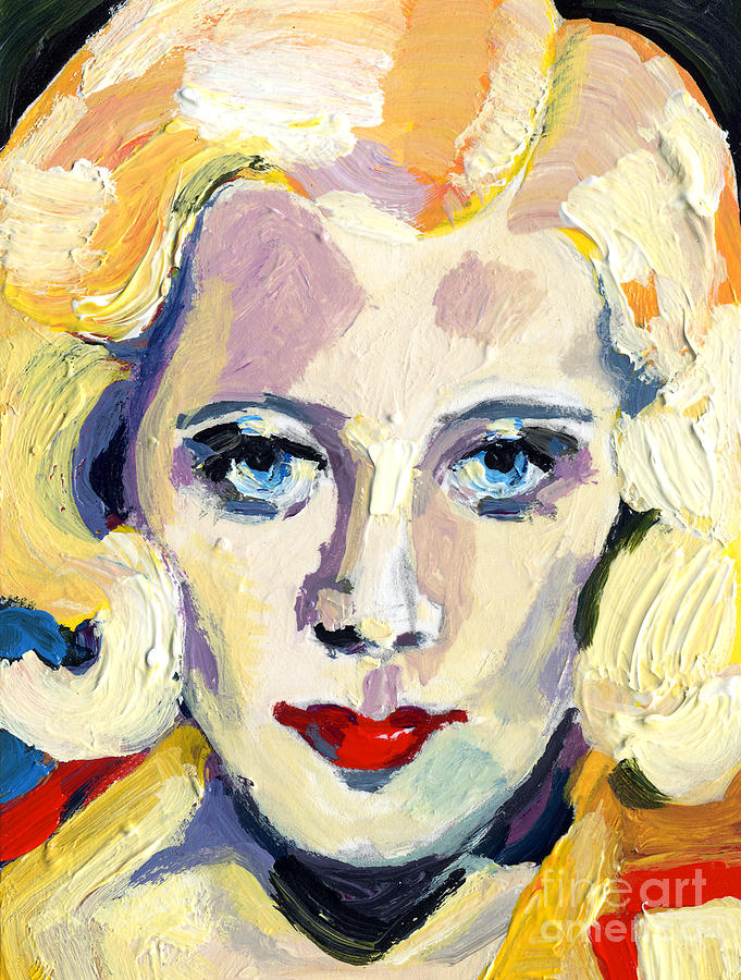 Carol Lombard Famous Faces Painting by Ginette Callaway