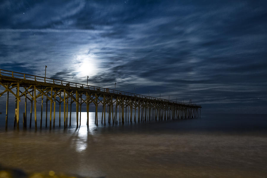 carolina beach fishing pier photograph by michael marlowe
