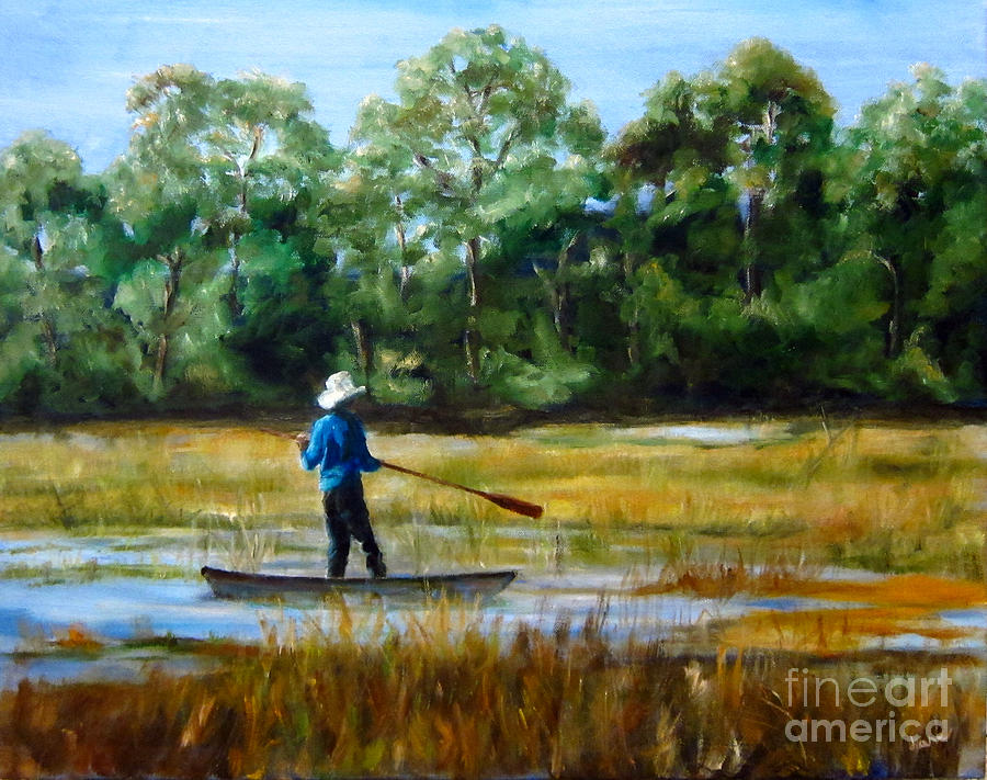 North Carolina Painting - Carolina Cove by Diane Kraudelt