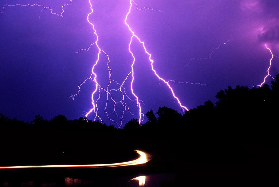 Storm Photograph - Carolina Electrical Storm by Mike McGlothlen