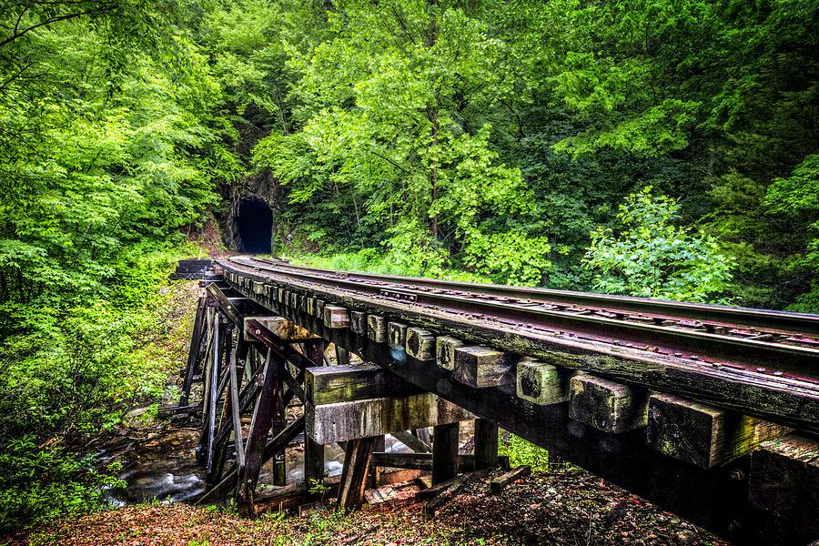 Andrews Photograph - Carolina Railroad Trestle by Debra and Dave Vanderlaan