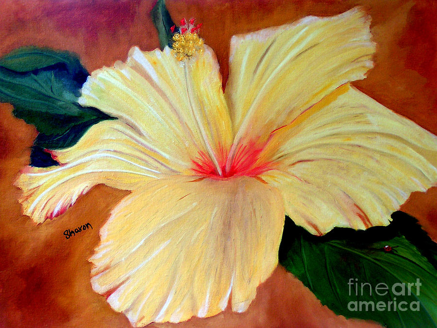 Flower Painting - Carols Hibiscus by Sharon Burger