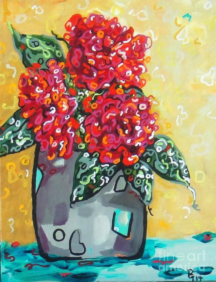 Roses Painting - Carolyns Roses by Deborah Glasgow